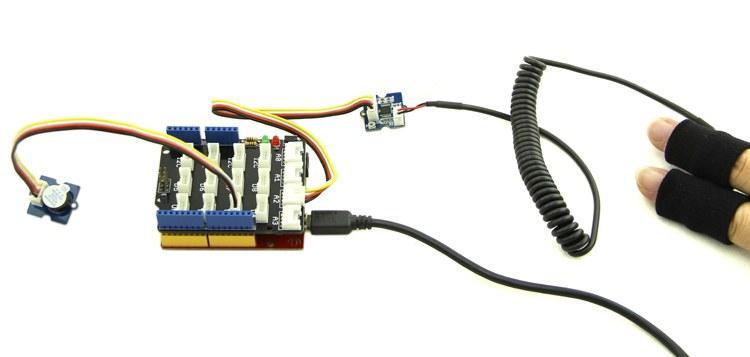 galvanik deri tepkisi (gsr) ölçüm sensörü - yalan sensörü örnek uygulama